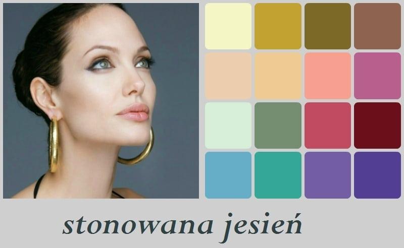 Angelina Jolie - stonowana jesień