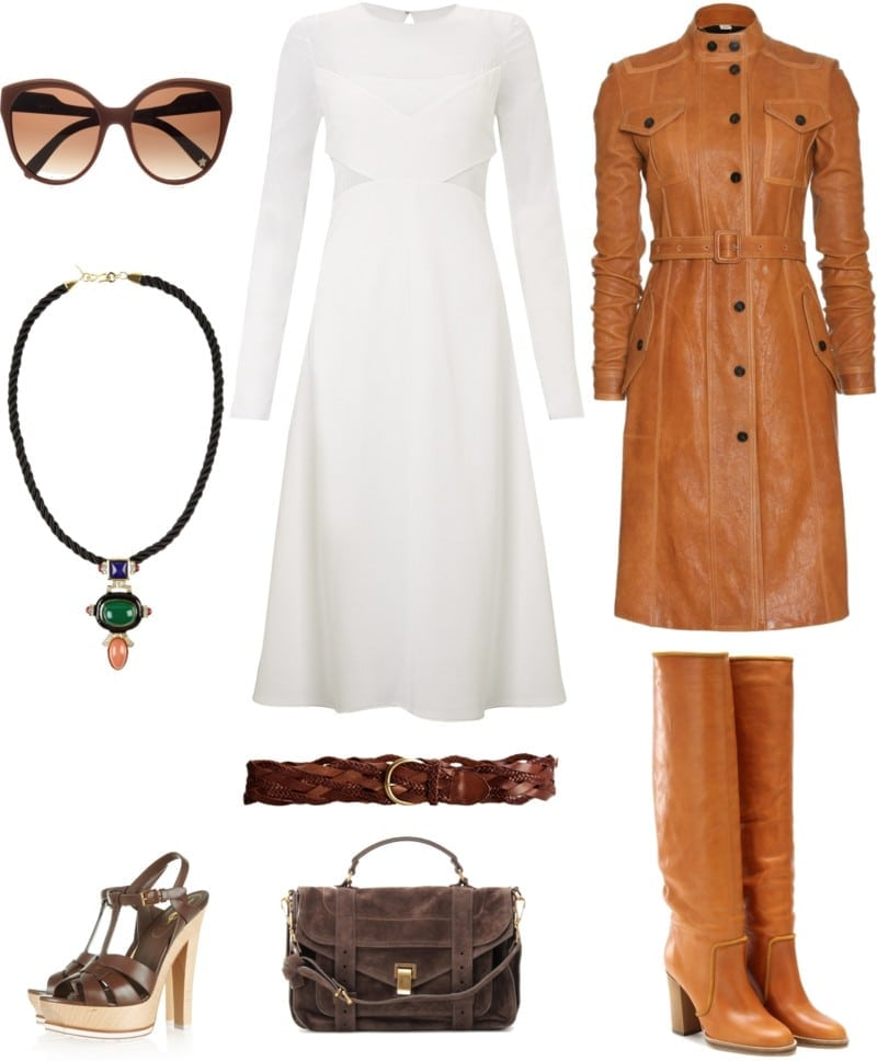 mała biała sukienka, lata siedemdziesiąte