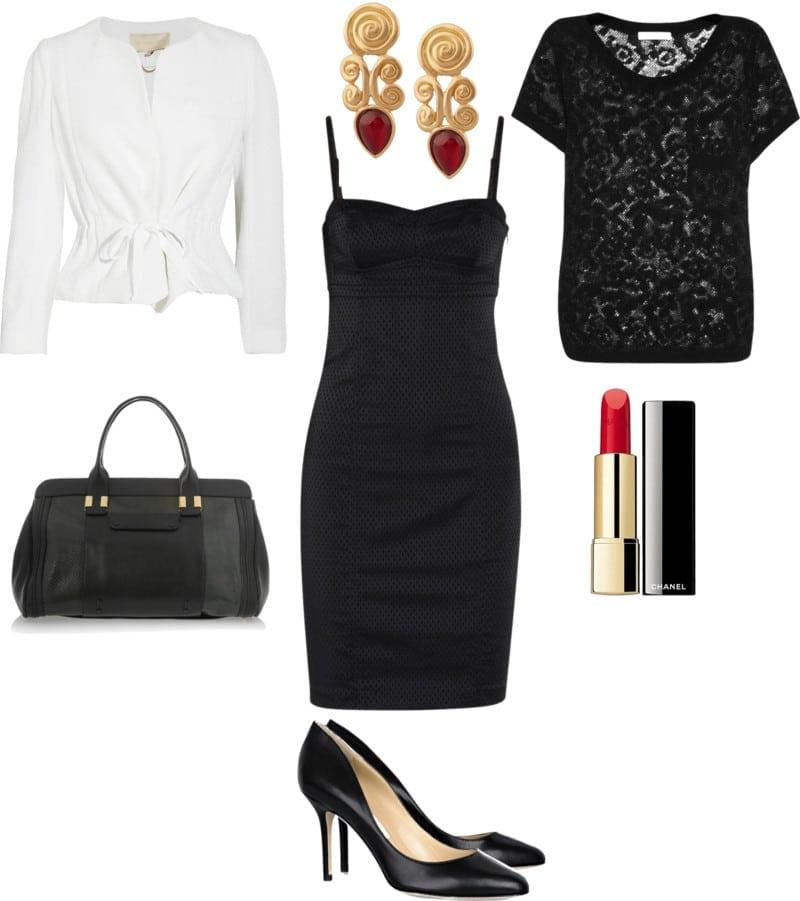 mała czarna włoski styl