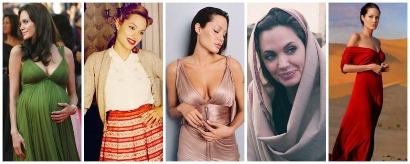stonowana jesień Angelina Jolie