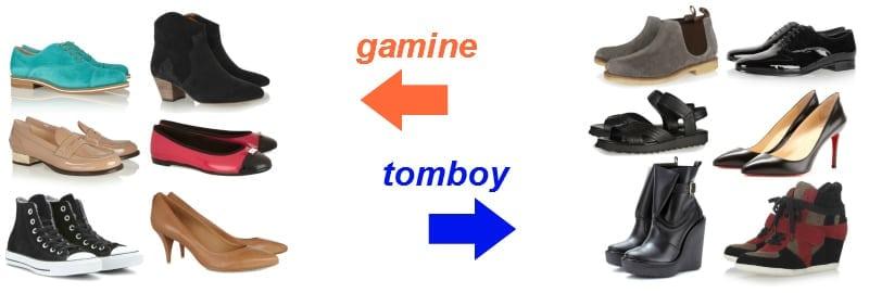 buty - gamine vs. tomboy