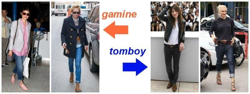 casual - gamine vs. tomboy