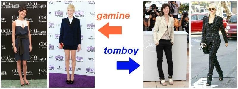 elegant - gamine vs. tomboy