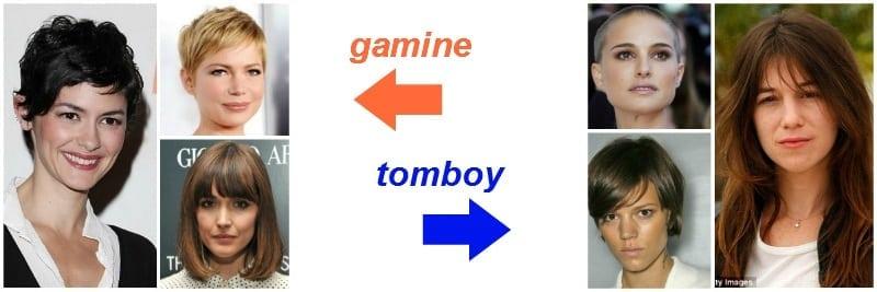 włosy - gamine vs. tomboy