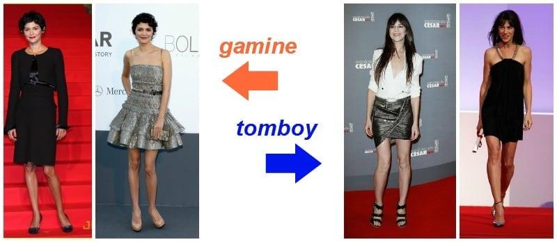 wieczorowo - gamine vs. tomboy