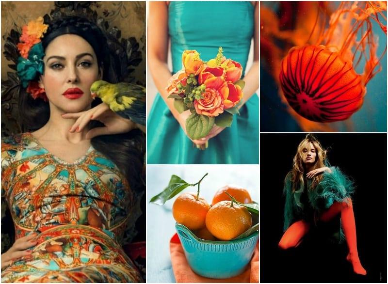 11- turkus i pomarańczowy - Lucyna