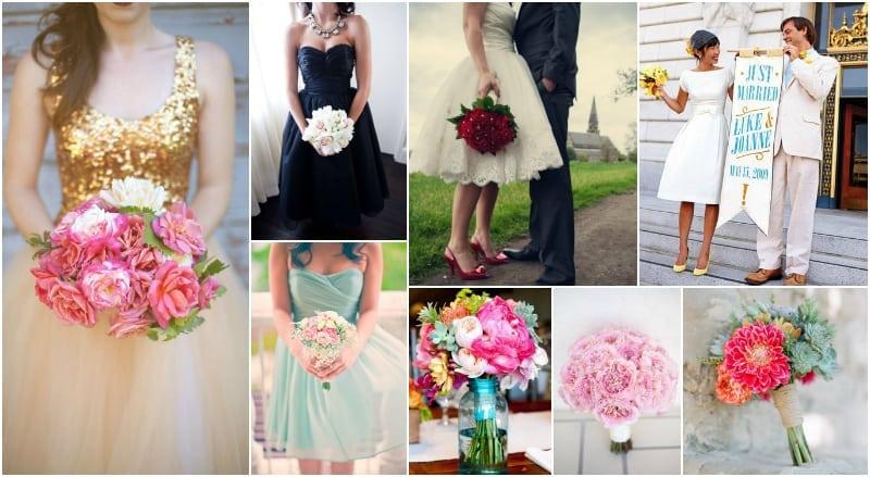 kolorowa wiązanka ślubna