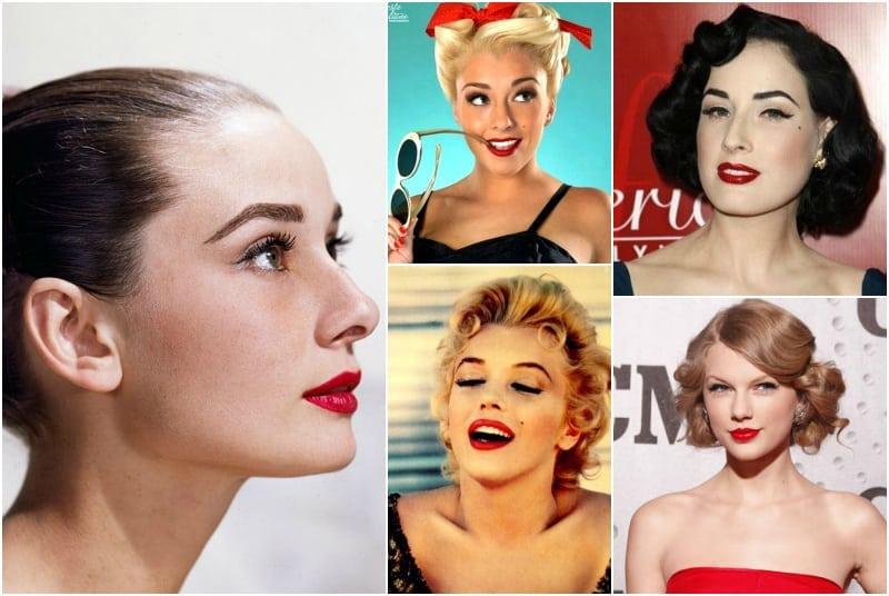 makijaż vintage lata pięćdziesiąte