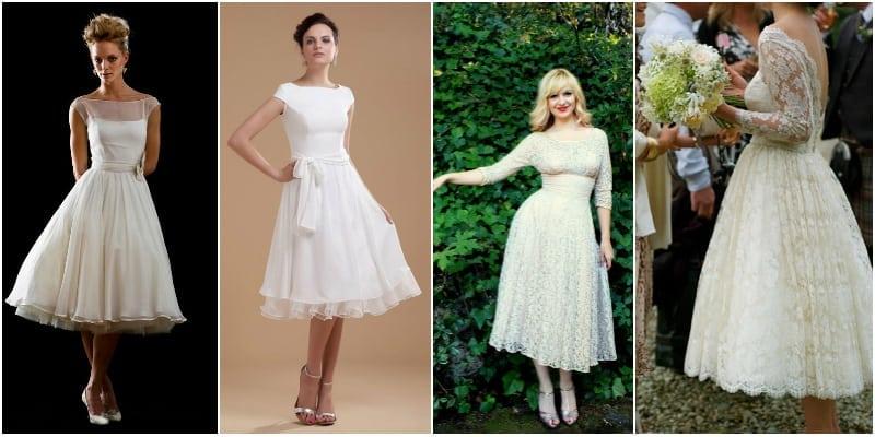 suknia ślubna lata 50-te