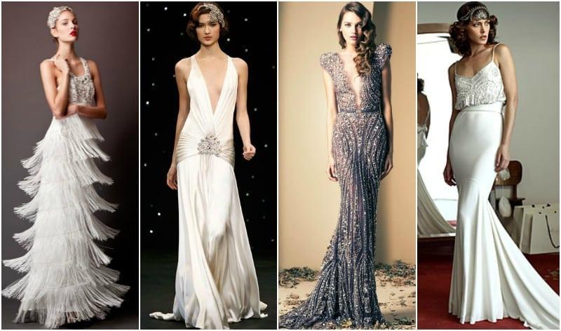 suknia ślubna lata dwudzieste