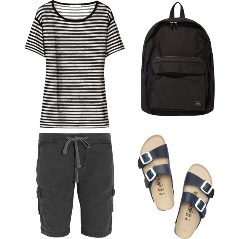 breton stripes and birkenstock