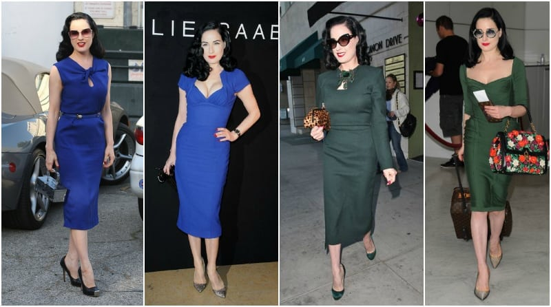 Dita von Teese pencil dress