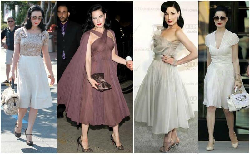 Dita von Teese sukienka rozkloszowana