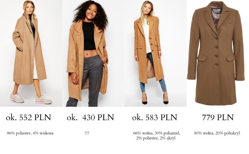 wybór płaszcze