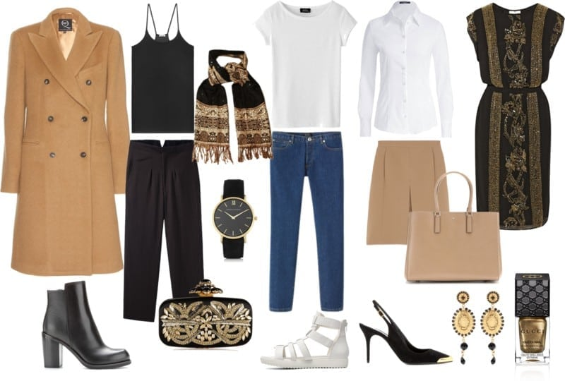 styl glamour - ciepłe kolory