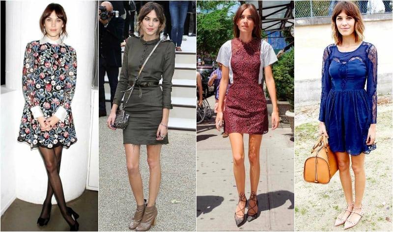 Alexa chung krótkie sukienki