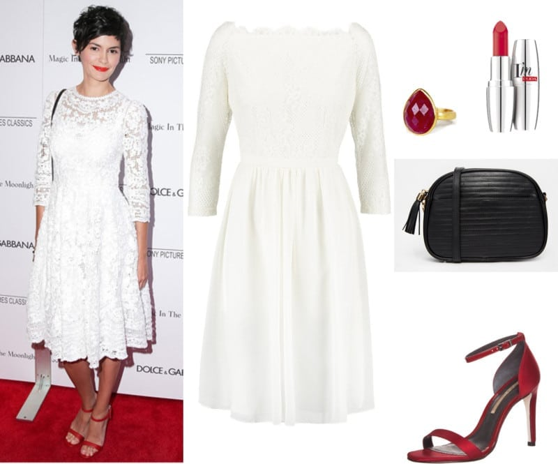 koronkowa sukienka biała