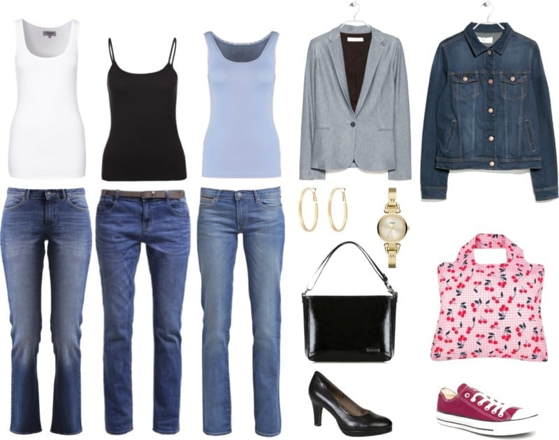 jeansy i koszulka