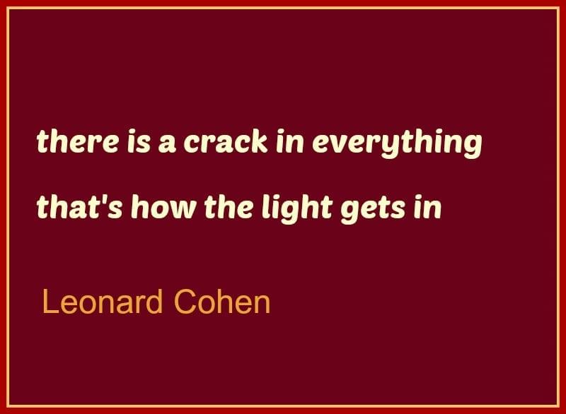 wabi sabi Leonard Cohen