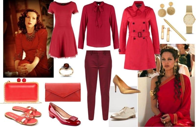 czerwony dla szatynek