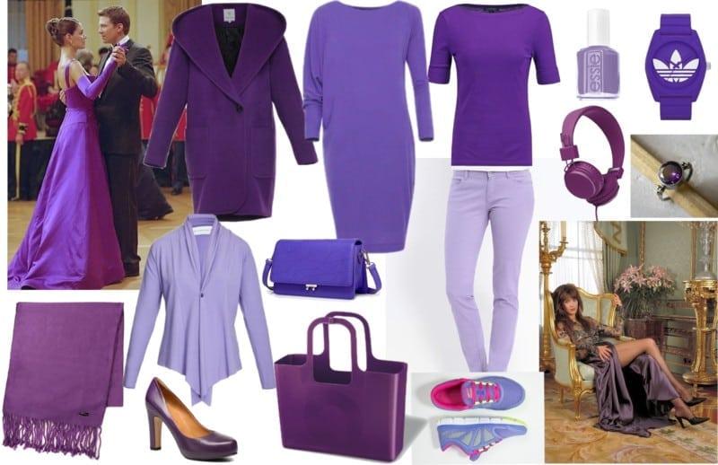 fioletowy dla szatynek