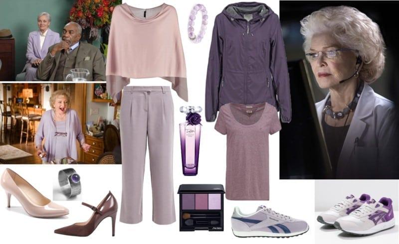 siwe włosy - fiolety