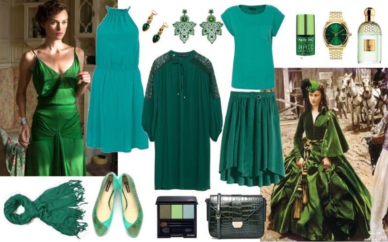 zielony dla szatynek