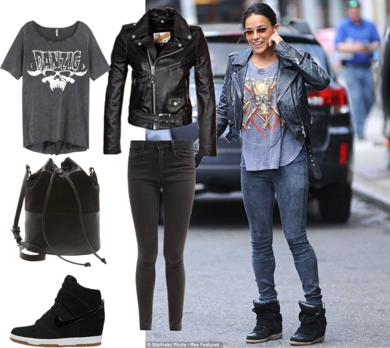 michelle rodriguez styl rockowy