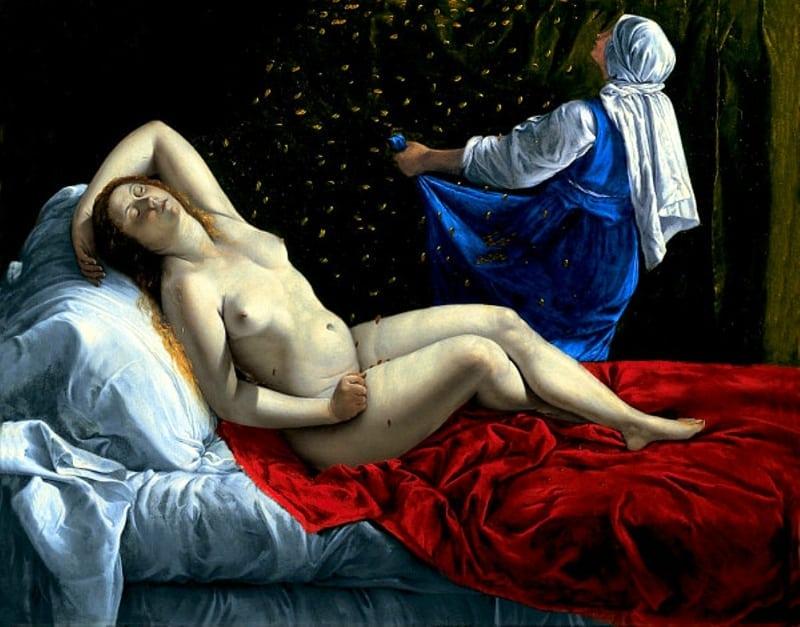 Artemisia Gentileschi / ????????? ??????????? (1593-1653) - Danaë / ????? (????? 1612)
