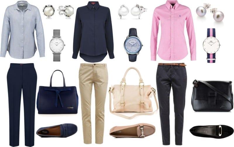 styl preppy uniformy
