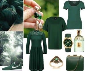 zielony butelkowy
