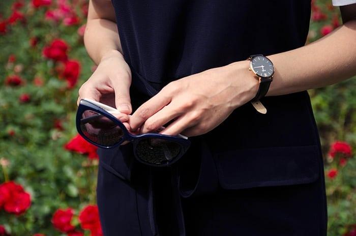 czarno złoty zegarek