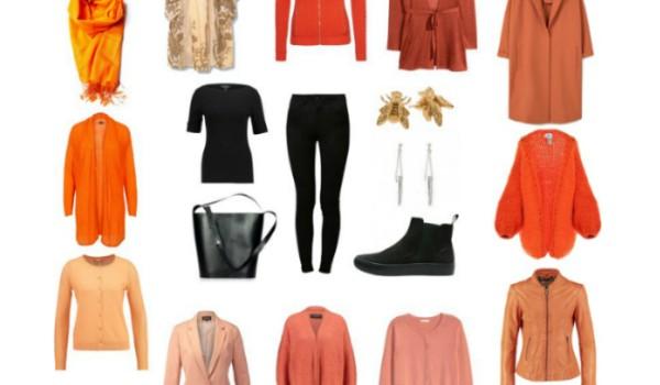 pomarańczowe swetry