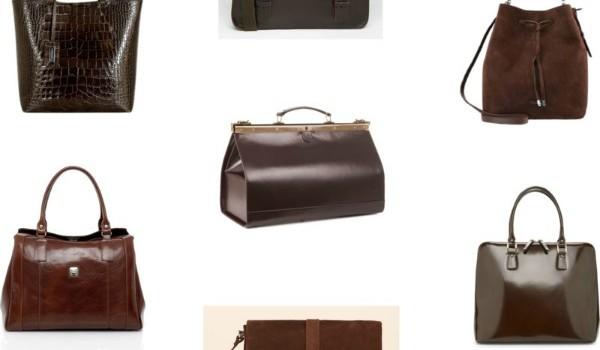 brązowe torebki