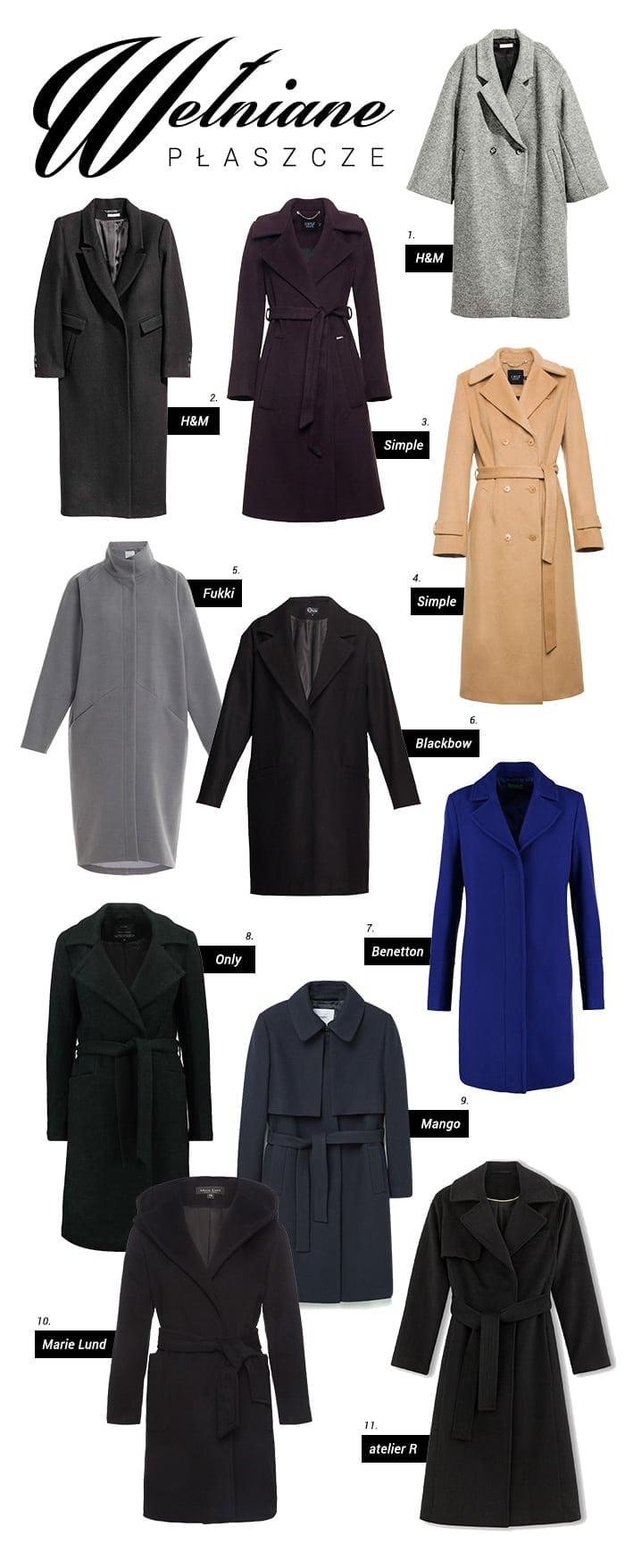 Bardzo Gdzie kupić - wełniany płaszcz #IT-42