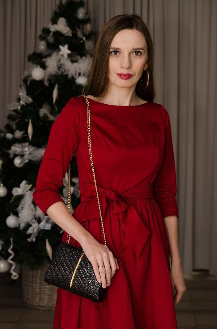 czerwien sukienki
