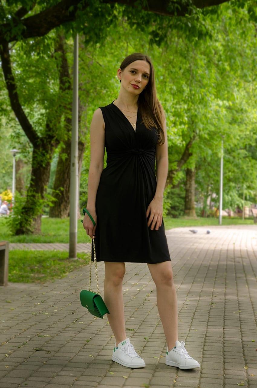 17be5c2f75 A sukienkę już miałam na sobie również z zamszowymi botkami i z moimi  lakierowanymi szpilkami i muszę powiedzieć