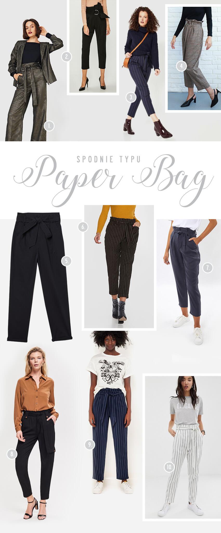 Spodnie typu paper bag